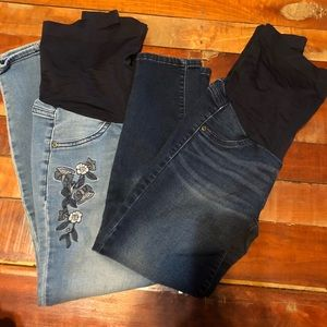 Lot of 2 Pairs Maternity Jeans
